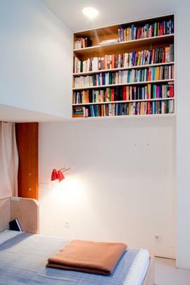 ベッドルーム,本棚,作り付け,棚,ニッチ